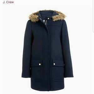 "Blue ""Vail"" j crew peacoat jacket size 8"